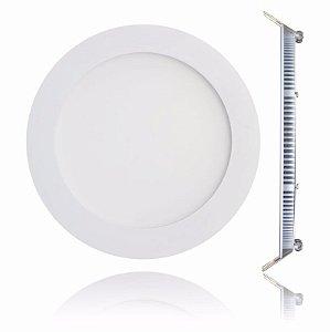 Luminária Plafon 12w LED Embutir Branco Quente 3000K
