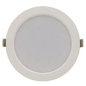 Luminária Plafon 12w LED Embutir Concavo Branco Frio 6000k