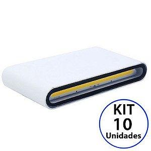 Kit 10 Luminária Arandela LED 12W Branco Quente 3000K Externa