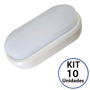 Kit 10 Luminaria Arandela LED 7W Sobrepor Branco Frio 6000k Tartaruga