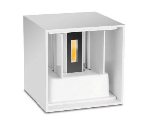 Luminária Arandela LED 12W Branco Quente 3000K Cubo
