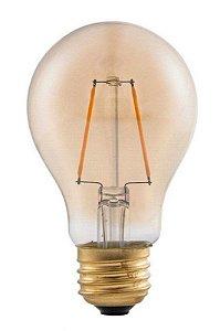 Lâmpada LED Bulbo FILAMENTO A60 4W Vintage Carbon AMBAR