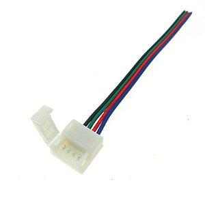 Conector para Fita LED 5050 RGB 10mm - 4 Vias 1 Terminal