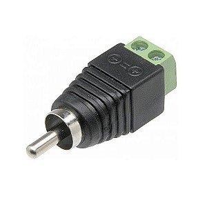 Plug Conector Borne RCA Macho Para Cftv Áudio e Vídeo - Extra ou Reposição