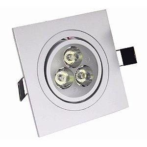 Spot 3W Dicróica LED Direcionavel Base Branca