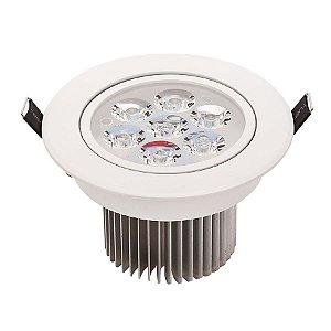 Spot Dicróica 7w LED Redondo Direcionável Corpo Branco Branco Frio 6000k