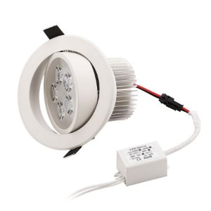 Spot Dicróica 5w LED Redondo Direcionável Corpo Branco Branco Frio 6000k