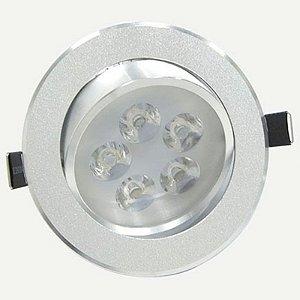 Spot Dicróica 5w LED Redondo Direcionável Corpo Alumínio Branco Frio 6000k