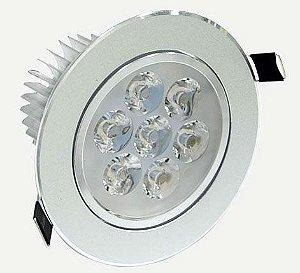 Spot Dicróica 7w LED Redondo Direcionável Corpo Aluminio Branco Frio 6000k