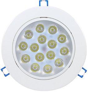 Spot Dicróica 18w LED Direcionável Corpo Branco Branco Frio 6000k