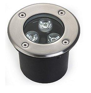 Spot Balizador LED de Chão 3W Branco Frio 6000k para Piso