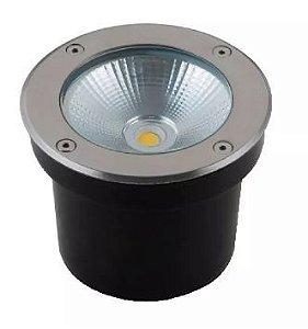 Spot Cob Balizador LED 7W Branca | Branco Quente 3000K para Piso
