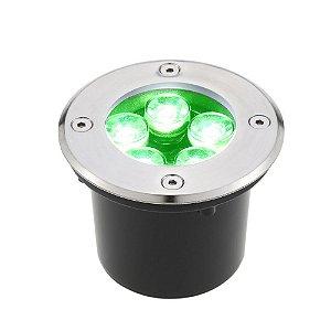 Spot Balizador LED de Chão 5W Verde para Piso