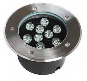 Spot Balizador LED de Chão 9W Verde para Piso