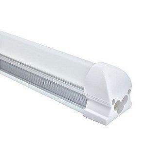 Lâmpada LED Tubular T8 9w 60cm c/ Calha - Branco Frio 6000k
