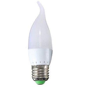 Lâmpada Vela Leitosa LED 5w Branco Quente 3000K Com Bico
