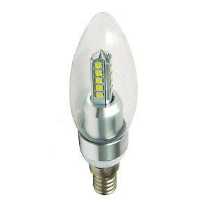 Lâmpada Vela Cristal LED 5w e14 Branco Quente 3000K