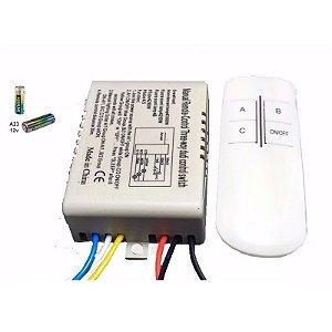 Controle de Automação RF Relé Sem Fio c/ 3 Canais