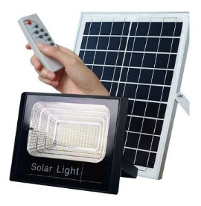 Holofote Refletor Led 40w Energia Solar Prova D'àgua Fazenda