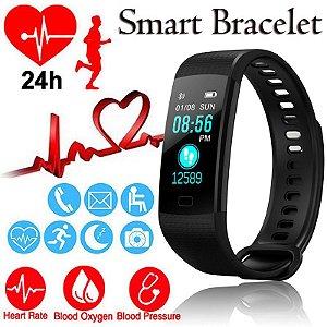 Pulseira Inteligente Y5 Goral Relógio Smart band frequência cardíaca