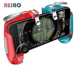 Kit Gatilhos K16 + Analógico Gamepad Completo Gamer Pubg