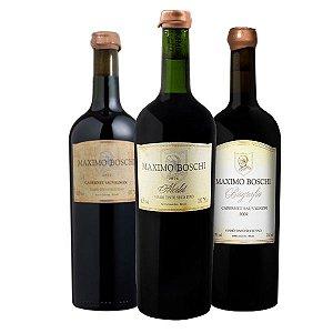Vertical 3 garrafas - Cabernet Sauvignon 2004 e 2007 + Merlot 2006