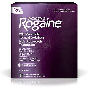 Rogaine Feminino - Minoxidil 2% Para Mulheres -Tratamento 3 meses
