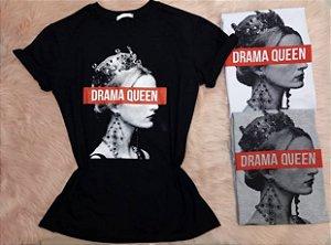 T-Shirt Drama Queen Preta