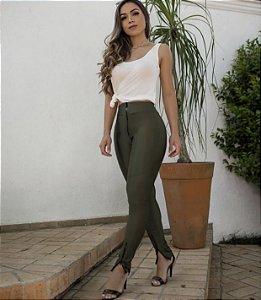 Calça Prada Skinny Zíper Frontal Verde