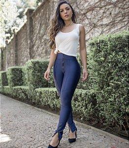 Calça Prada Skinny Zíper Frontal Azul