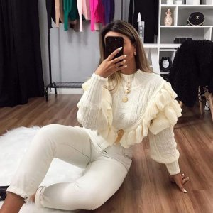 Tricot Babado Off White