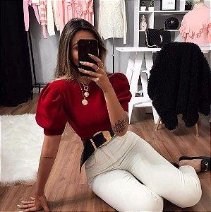 Blusa Puff Vermelha