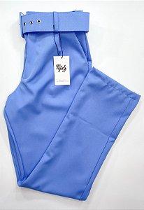 Calça Alfaiataria Cinto Azul