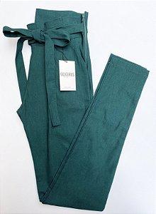 Calça Clochard Bengaline Verde Bandeira