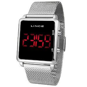 Relógio Lince Prata Digital MDM4596L PXSX
