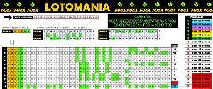 Planilha Lotomania - 95 Dezenas Em Apenas 20 Cartelas