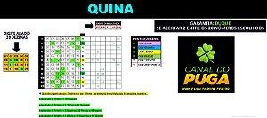 Planilha Quina - Esquema com Jogos de 7 Numeros