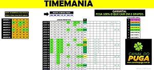 Planilha Timemania - 40 Dezenas Fechando 7 Pontos Em Grupos
