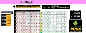 Planilha Lotofacil - 24 Dezenas Fechando 15 Pontos em Grupos