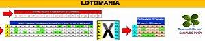 Planilha Lotomania - 100 Dezenas Semi Combinadas Em 36 Jogos