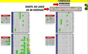 Planilha Timemania - 60 Dezenas Com Redução Em Colunas