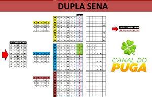 Planilha Dupla Sena 45 Dezenas