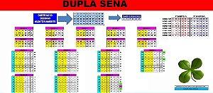 Planilha Dupla Sena - Cruzamento De Linhas E Redução