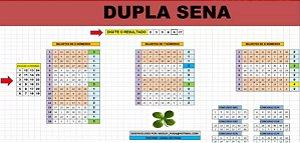 Planilha Dupla Sena - 24 Dezenas Em Cartões De 6,7,8 Números