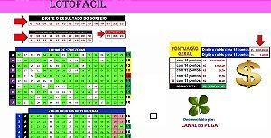 Planilha Lotofacil - 23 Dezenas Com Redução Avançada
