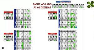 Planilha Mega Sena - 60 Dezenas Em Linhas De 10 Dezenas