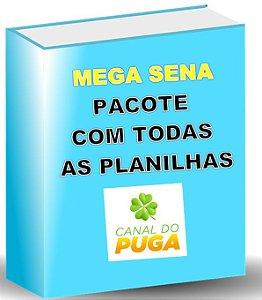 PACOTE DE PLANILHAS MEGA SENA