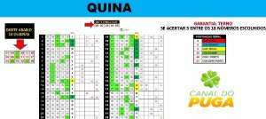 Planilha Quina - Esquema 18 Dezenas Com Garantia