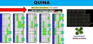 Planilha Quina - 21 Dezenas Semi Combinadas Com Garantia