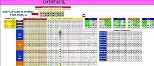 Planilha Lotofacil - Jogue Com 5 Grupos De 10 Dezenas Fixas